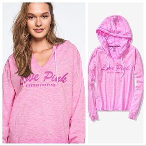 VS Pink Lightweight Cut Off Pullover M
